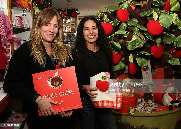 Marnie Owens and Karis Jagger attend the holiday celebration with Kellie Martin reading The Newest Children's Book From Ecofriendly Plush Toy Company...