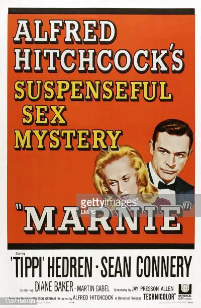 Marnie poster Tippi Hedron Sean Connery 1964