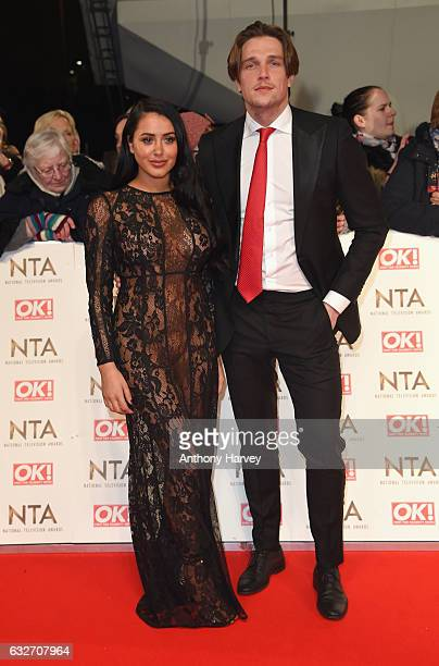 Marnie Simpson and Lewis Bloor attends the National Television Awards on January 25 2017 in London United Kingdom