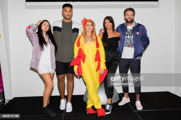 Marnie Simpson Nathan Henry Chloe Ferry Abbie Holborn and Aaron Chalmers attend the Geordie Shore series 15 premiere photocall at MTV London on...