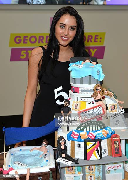 Marnie Simpson of Geordie Shore celebrate their fifth birthday at MTV London on May 24 2016 in London England