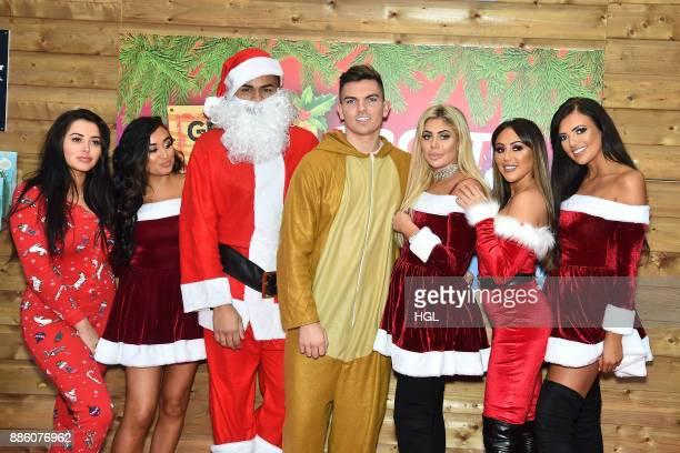 Marnie Simpson Stephanie Snowdon Nathan Henry Sam Gowland Chloe Ferry Sophie Kasaei Abbie Holborn attend a Christmas Photocall in Santa's Grottoat...