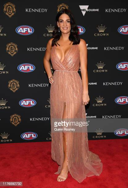 Marnie Walters wife of Michael Walters of the Dockers arrives ahead of the 2019 Brownlow Medal at Crown Palladium on September 23 2019 in Melbourne...