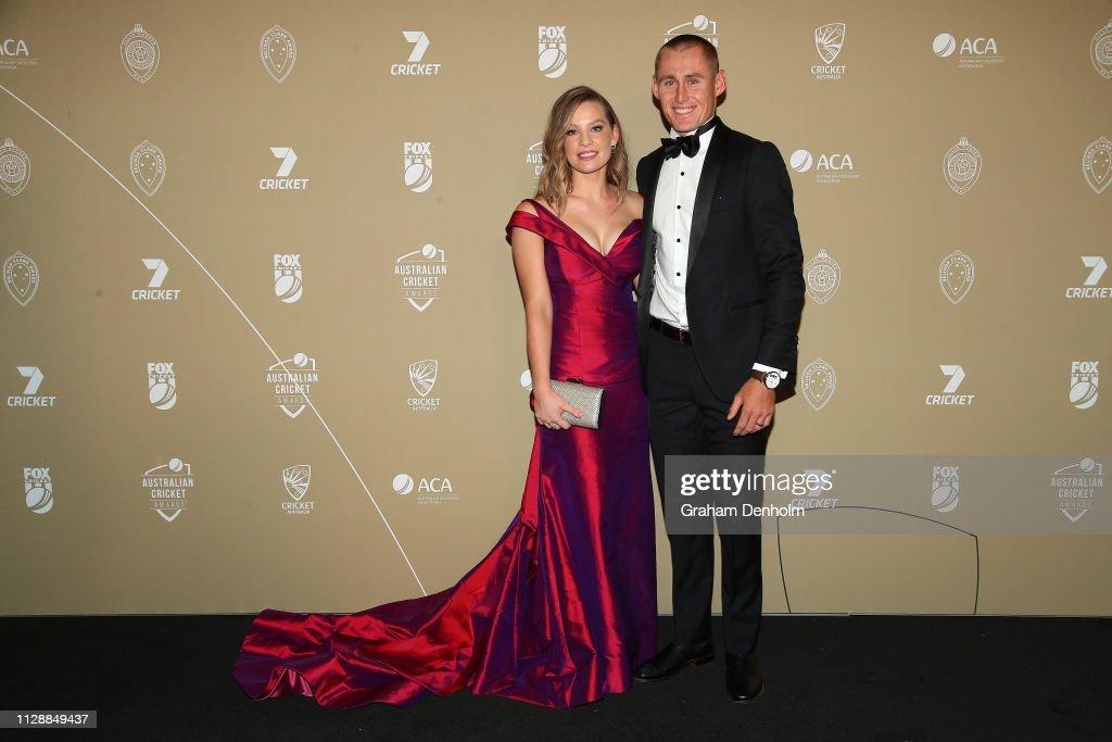 Marnus Labuschagne And Rebekah Labuschagne Attend The 2019 Australian News Photo Getty Images