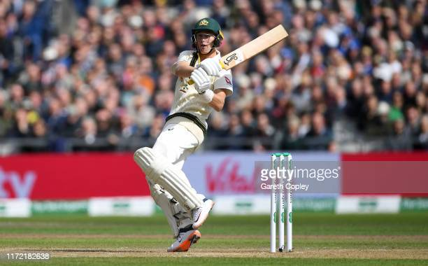 Marnus Labuschagne of Australia during day one of the 4th Specsavers Ashes Test between England and Australia at Old Trafford on September 04, 2019...