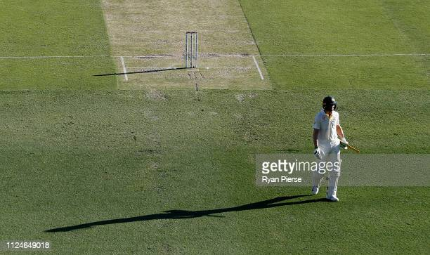 Marnus Labuschagne of Australia looks dejected after being dismissed by Dhananjaya de Silva of Sri Lanka during day two of the First Test match...