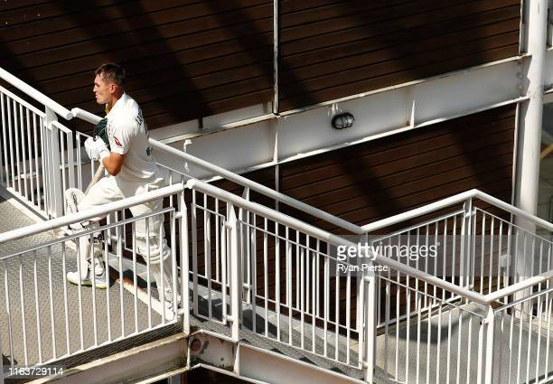 Marnus Labuschagne of Brad Haddin XII looks dejected after being dismissed by James Pattinson of Graeme Hick XII during day one of the Australian...
