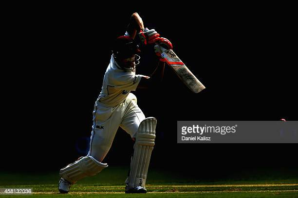 Marnus Labuschagne of the Bulls bats during day one of the Sheffield Shield match between South Australia and Queensland at Adelaide Oval on October...
