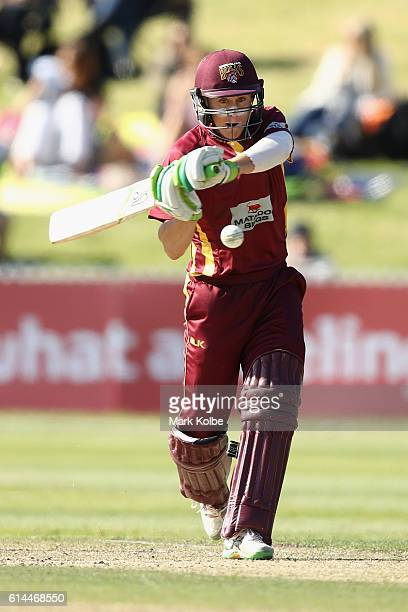 Marnus Labuschagne of the Bulls bats during the Matador BBQs One Day Cup match between Queensland and New South Wales at Drummoyne Oval on October 14...