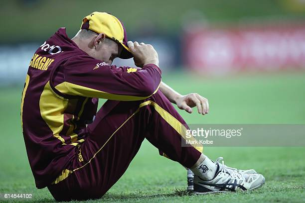 Marnus Labuschagne of the Bulls looks dejected after dropping a catch during the Matador BBQs One Day Cup match between Queensland and New South...