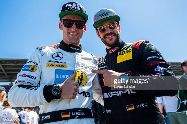 Maro Engel and Maximilian Goetz wearing their IWC Ingenieur timepieces are ready for the 24h Nuerburgring Race on May 27 2017 in Nuerburg Germany IWC...
