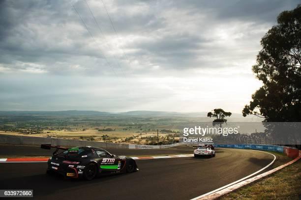 Maro Engel drives the MercedesAMG Team STM/HTP Motorsport during the 2017 Bathurst 12 hour race at Mount Panorama on February 5 2017 in Bathurst...