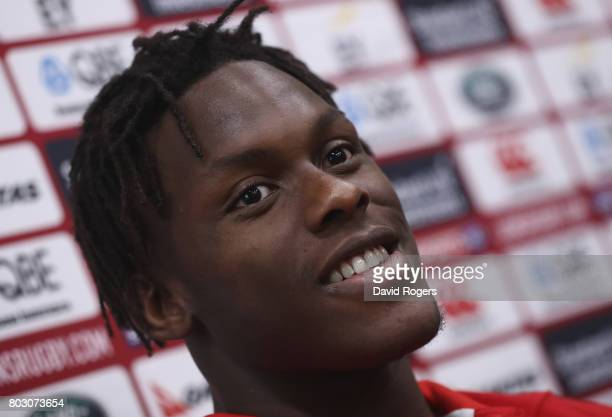 Maro Itoje faces the media during the British Irish Lions media session on June 29 2017 in Wellington New Zealand
