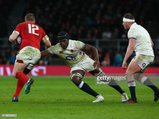 Maro Itoje of England during NatWest 6 Nations match between England against Wales at Twickenham stadium London on 10 Feb 2018