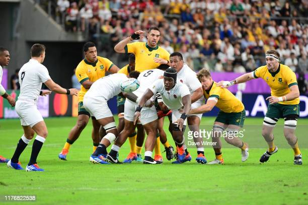 Maro ITOJE of England during the Rugby World Cup 2019 Quarter Final match between England and Australia on October 19, 2019 in Oita, Japan.
