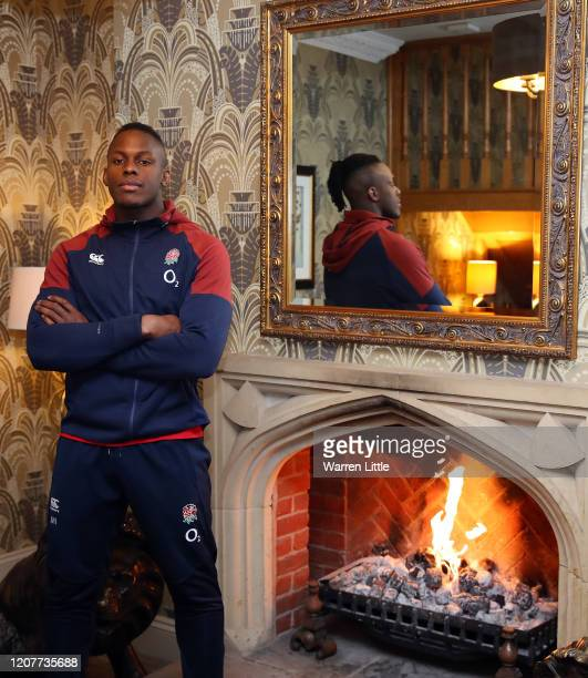 Maro Itoje of England poses for a photograph during England Media Access at Pennyhill Park on February 21 2020 in Bagshot England