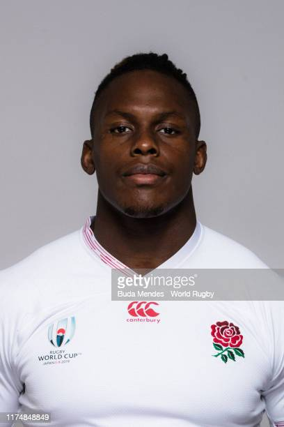 Maro Itoje of England poses for a portrait during the England Rugby World Cup 2019 squad photo call on September 15 2019 in Miyazaki Japan
