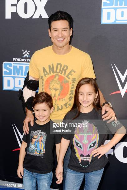 Maro Lopez and kids Dominic and Gia Francesca attend WWE 20th Anniversary Celebration Marking Premiere of WWE Friday Night SmackDown on FOX at...