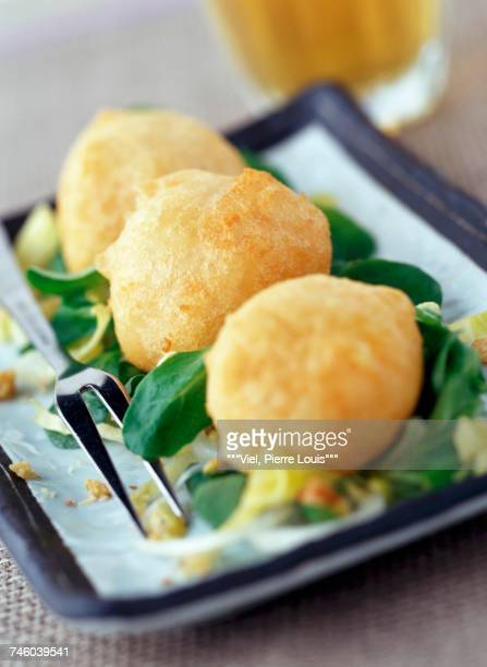 Maroilles cheese fritters