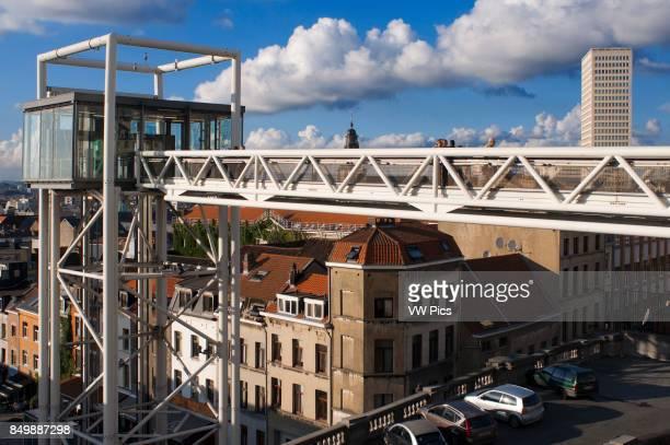 Marolles panoramic lift Place Poelaert Brussels Belgium