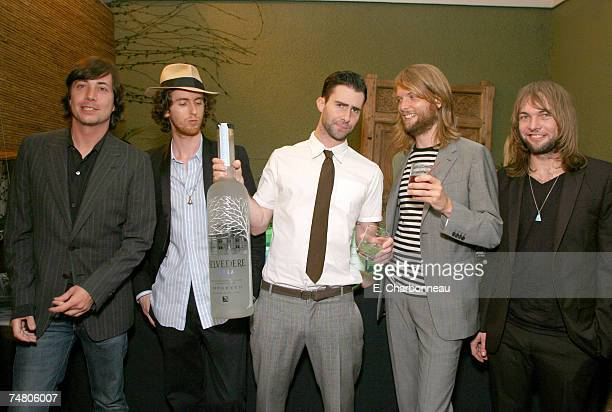 Maroon 5 at the Miau Haus Art Studio in Los Angeles, California