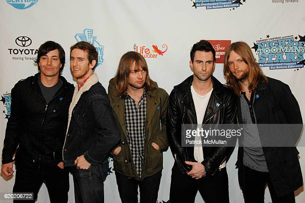 Maroon 5 attends NIGHT OF TOO MANY STARS An Overbooked Concert for Autism Education Sponsored by SLATKIN CO at The Beacon Theatre on April 13 2008 in...
