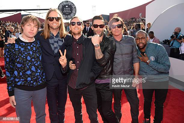 Maroon 5 attends the 2014 MTV Video Music Awards at The Forum on August 24 2014 in Inglewood California