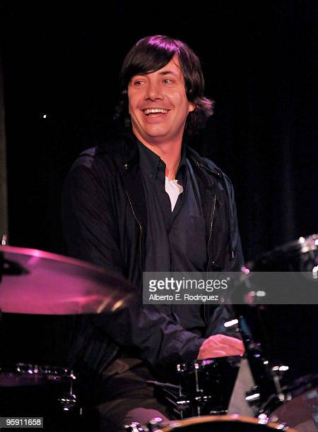 Maroon 5 drummer Matt Flynn performs at A Night to Benefit Haiti at The Roosevelt Hotel on January 20 2010 in Hollywood California