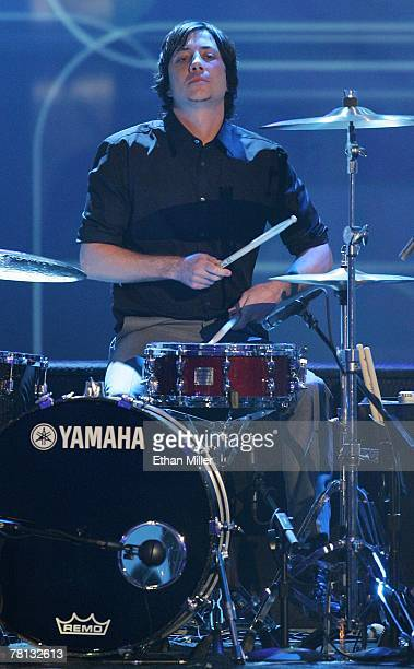 Maroon 5 drummer Matt Flynn performs during the 2007 American Music Awards at the Nokia Theatre LA Live November 18 2007 in Los Angeles California