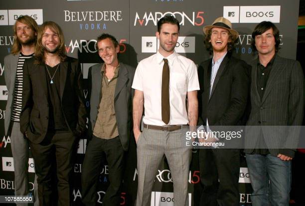 """Maroon 5 during Belvedere Vodka Sponsors the Maroon 5 Book Launch of """"Midnight Miles"""" at Miau Haus Art Studio in Los Angeles, California."""