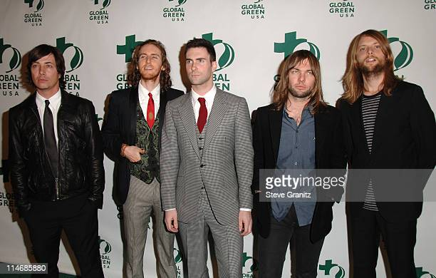 Maroon 5 during Global Green USA 3rd Annual PreOscar Celebration to Benefit Global Warming Arrivals at Avalon in Hollywood California United States