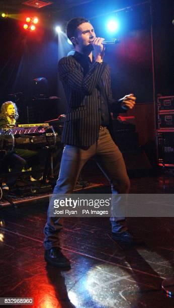 Maroon 5 lead singer Adam Levine performs at Scala in Kings Cross London