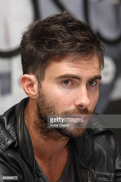 Maroon 5 Lead vocalist Adam Levine attends a press conference to promote their new album 'Call and Response The Remix Album' and their concert in...