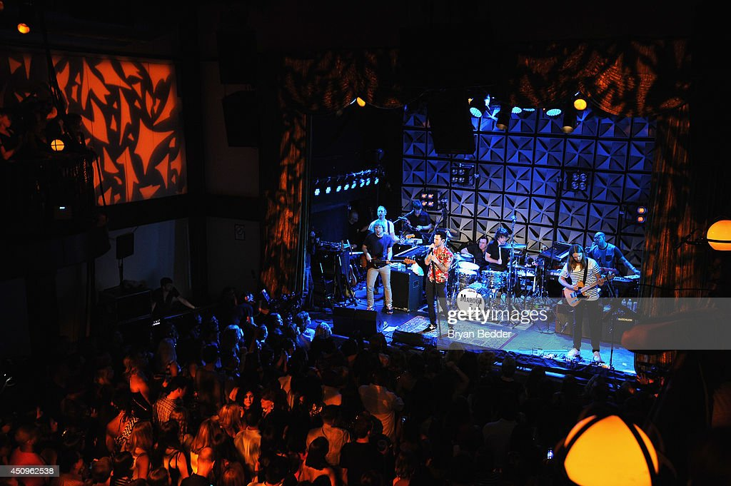 Maroon 5 performs at the #AmexEveryDayLive concert, live streamed from The Bowery Ballroom on June 20, 2014 in New York City.