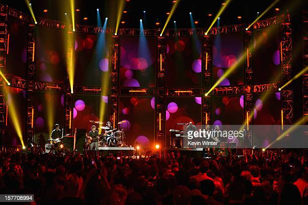 Maroon 5 performs at The GRAMMY Nominations Concert Live post concert held at Bridgestone Arena on December 5 2012 in Nashville Tennessee
