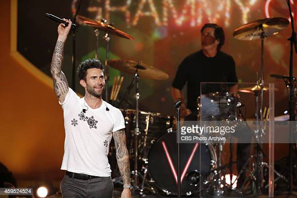 Maroon 5 performs during A VERY GRAMMY CHRISTMAS to be broadcast Friday Dec 5 on the CBS Television Network