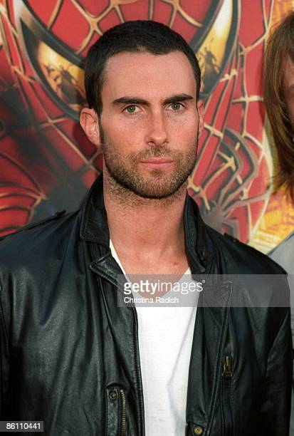 """Maroon 5 singer Adam Levine at the premiere of """"Spider-Man 2"""" held at the Mann Village Theater in Westwood, Calif. On June 22, 2004"""