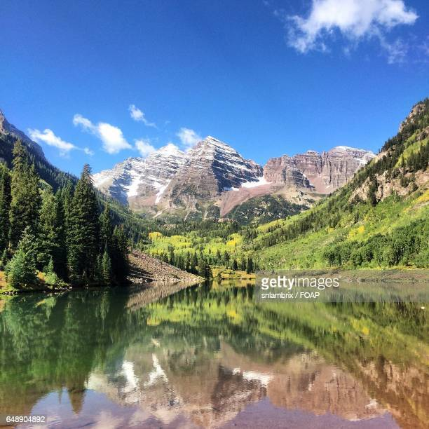 maroon bells, aspen, colorado - maroon bells stock pictures, royalty-free photos & images