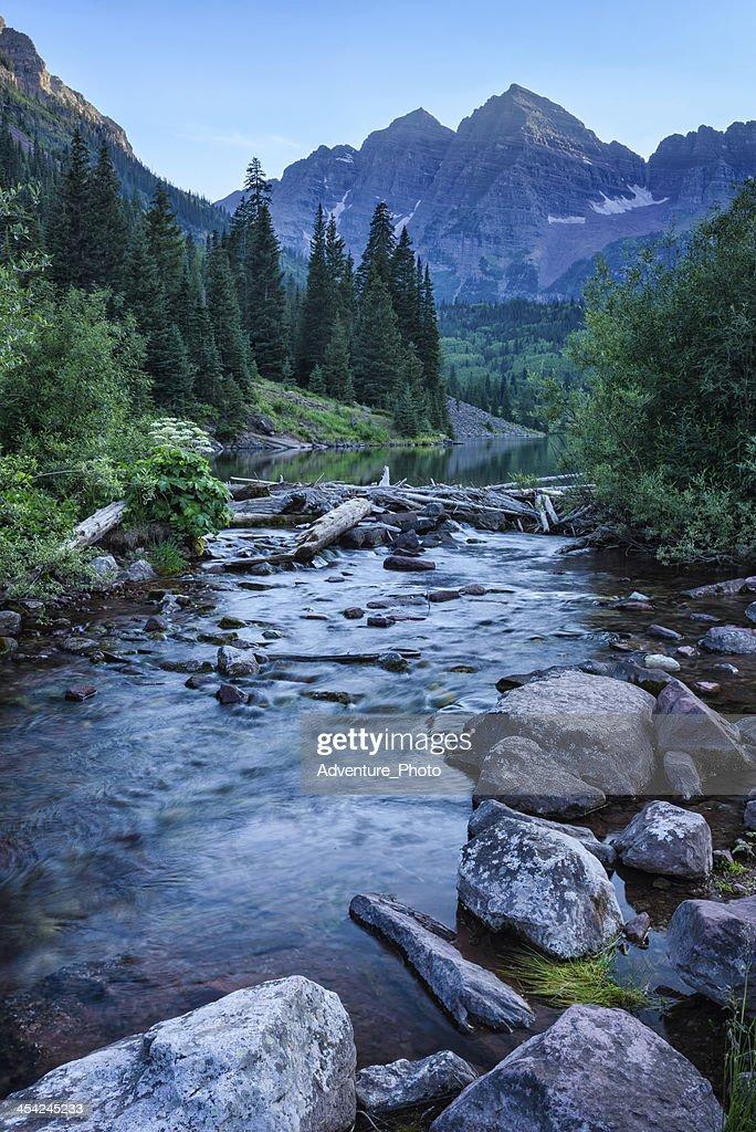 Maroon Bells Aspen Colorado Summer : Stock Photo