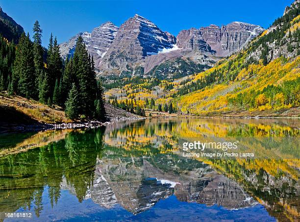 maroon bells, elk mountains, colorado - maroon bells stock photos and pictures
