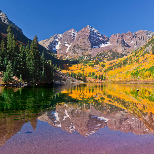 Maroon Bells Lake Reflection In Fall Wall Art