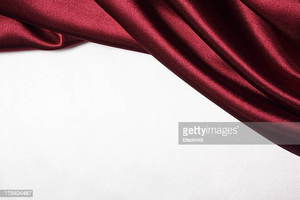 maroon silk curtain - white satin stock photos and pictures