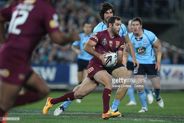 Maroon's captain Cameron Smith in action during the match against the Blues at Sydney Olympic Park Sydney Australia Wednesday 27th May 2015