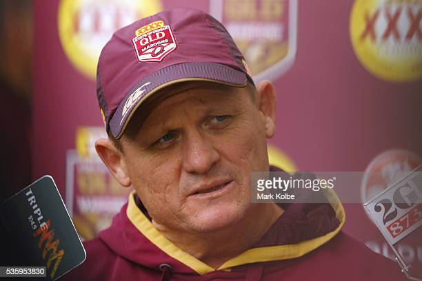 Maroons coach Kevin Walters speaks to the media before a Queensland Maroons State Of Origin captain's run at ANZ Stadium on May 31 2016 in Sydney...