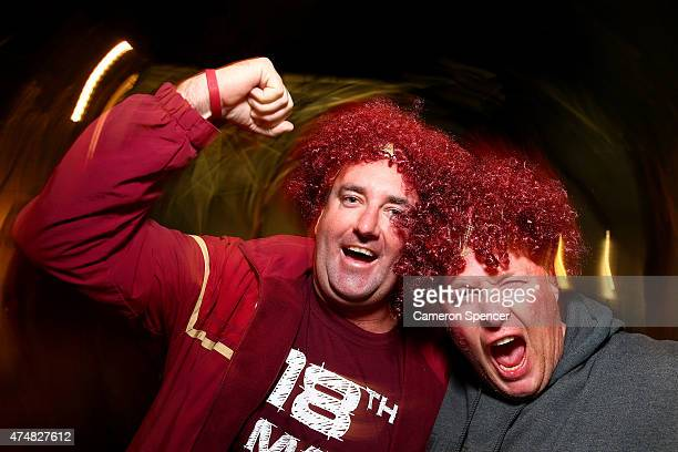Maroons fans show their support before game one of the State of Origin series between the New South Wales Blues and the Queensland Maroons at ANZ...
