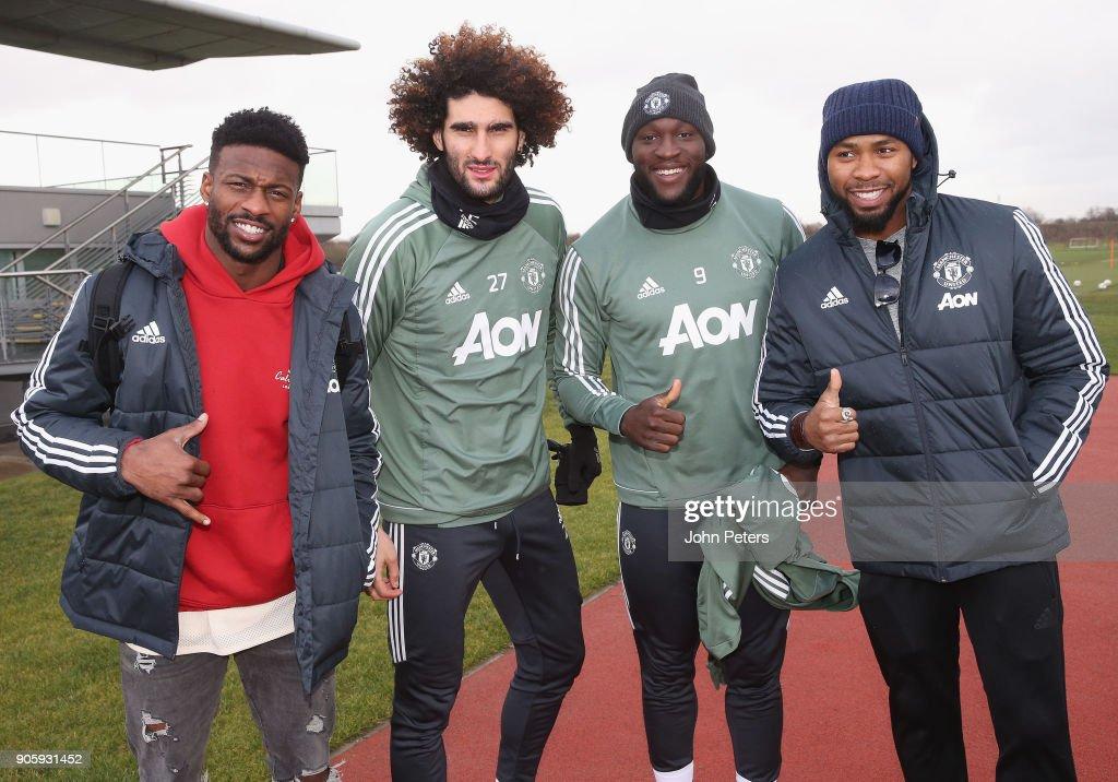 NFL Stars Josh Norman and Emmanuel Sanders Visit the Manchester United Training Ground