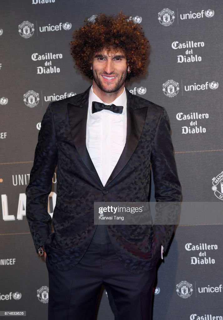 Marouane Fellaini attends the United for Unicef Gala Dinner at Old Trafford on November 15, 2017 in Manchester, England.