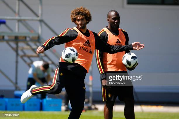 Marouane Fellaini midfielder of Belgium during a training session of the National Soccer Team of Belgium as part of the preparation prior to the FIFA...