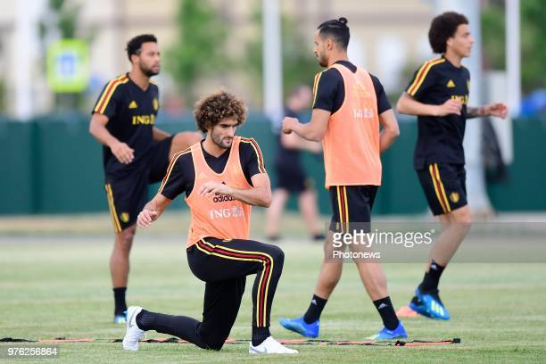 Marouane Fellaini midfielder of Belgium pictured during a training session of the National Soccer Team of Belgium prior to the FIFA 2018 World Cup...