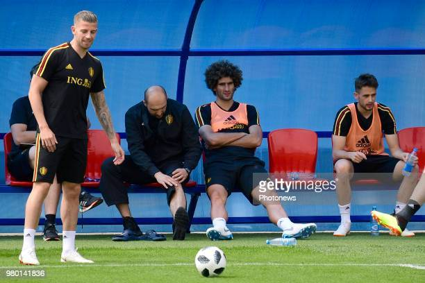 Marouane Fellaini midfielder of Belgium pictured during a training session as part of the preparation prior to the FIFA 2018 World Cup Russia group G...